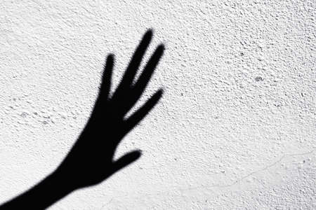 Abstract of shadow scary hands