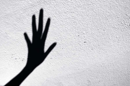 Abstract of shadow scary hands Stock Photo - 67079342
