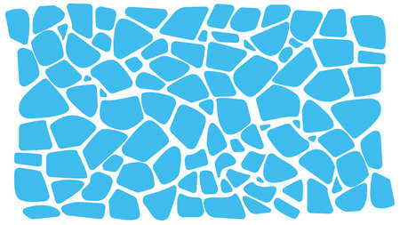 Abstract blue background. Imitation of caustic water or floating icebergs. Organic Fragments. Terrazzo marks. Blue element.
