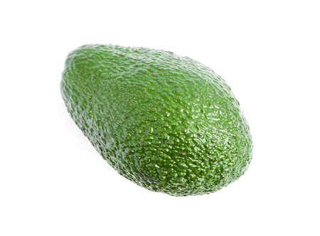 Ripe avocado isolated on white background. Healthy food
