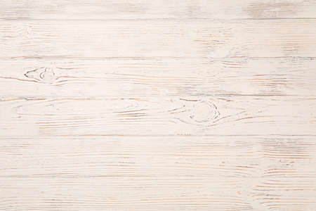 White rustic wooden background. Texture for your design. Space for text Banco de Imagens