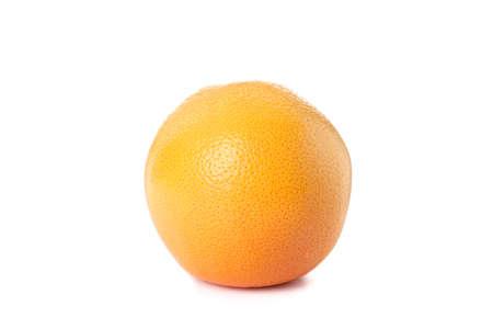 Single ripe orange isolated on white background Imagens