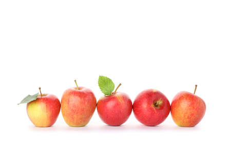 Sweet red apples isolated on white background