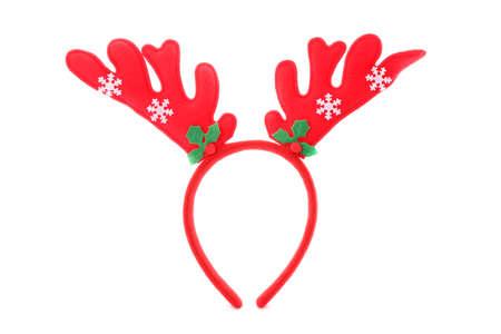 Christmas deer horns isolated on white background