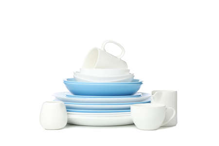 Tableware isolated on white background. Kitchen, serving