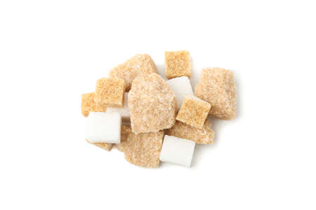 Bunch of sugar isolated on white background