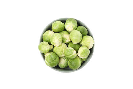 Bowl with brussels sprout isolated on white background 版權商用圖片