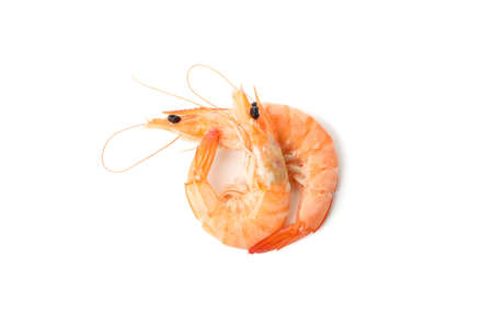 Delicious shrimps isolated on white background. Seafood Banque d'images