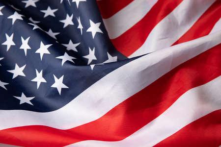 American flag on whole background, close up 版權商用圖片
