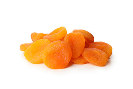 Tasty dried apricot isolated on white background Archivio Fotografico