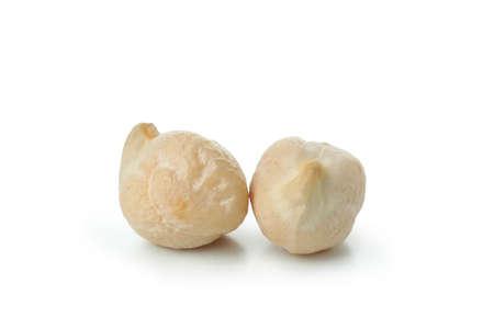 Fresh raw chickpea isolated on white background