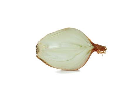 Fresh ripe onion isolated on white background