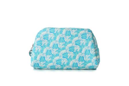 Stylish cosmetic bag isolated on white background Standard-Bild