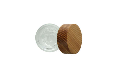 Jar of styling gel isolated on white background 스톡 콘텐츠