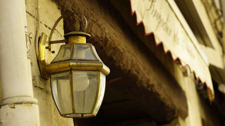 Old street lamps are through Avignon streets