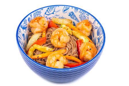 Korean noodles with shrimps