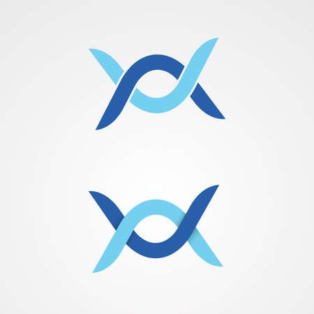Twins Boomerang vector design illustration