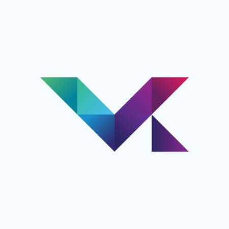Letter V K design concept illustration Vektoros illusztráció