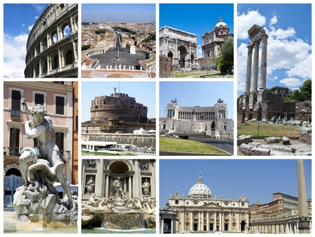 Rome collage photo