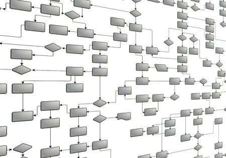 diagrama procesos: Diagrama de flujo de negocio Foto de archivo
