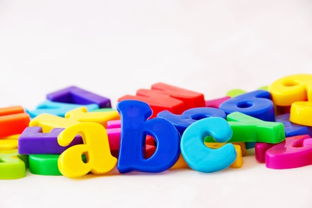 school things: Abc - magnetic alphabet letters