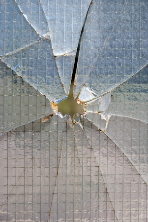 fractured: Bullet hole glass