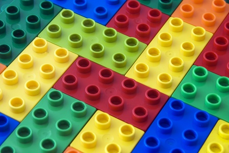 toy blocks: Colorful building blocks as background Stock Photo