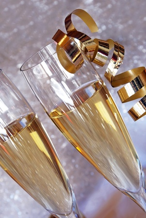 champagne glasses Stock Photo - 10316476