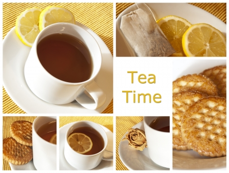 tea time - collage Stock Photo - 10322333