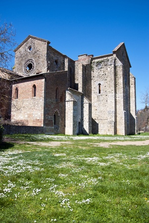 San Galgano Abbey in spring time Stock Photo - 10338274