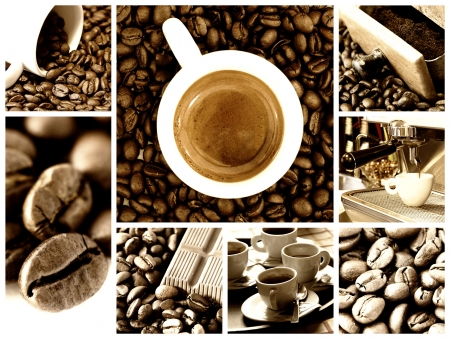 coffee time: Coffee collage Stock Photo