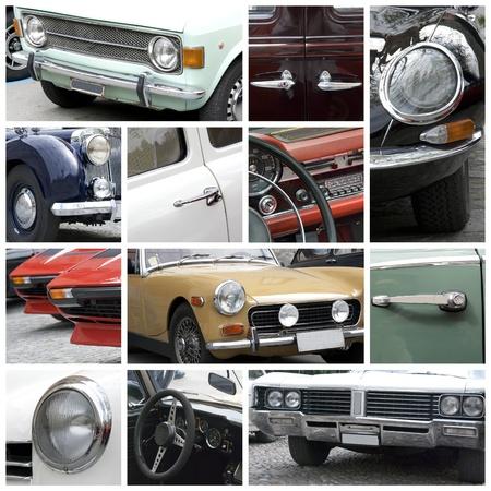 Régi autók kollázs