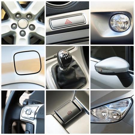 cromo: Collage de coche Foto de archivo