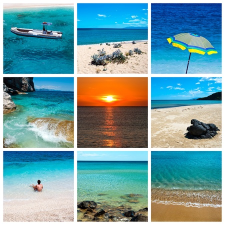 Sea and beach collage photo