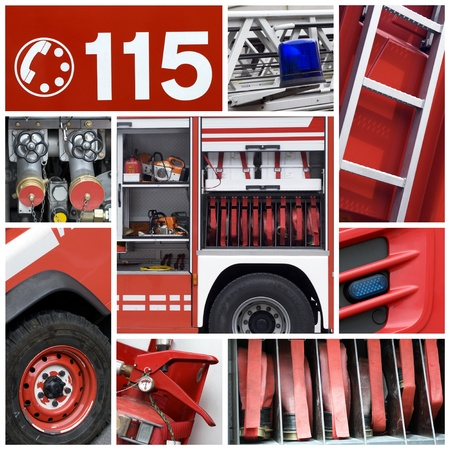 bombero de rojo: Bomberos equipo