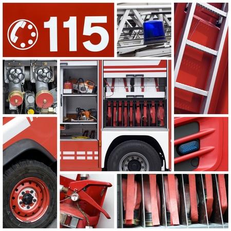 Tűzoltók felszerelése Stock fotó
