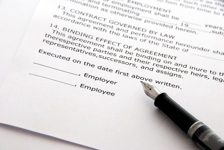 contracts: Employment contract