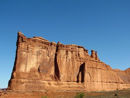 rock formations: Arches National Park      Stock Photo