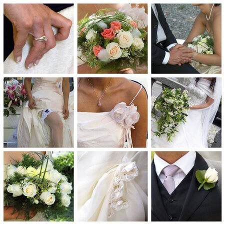 wedding collage Stock Photo - 10545311