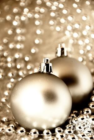 Karácsonyi díszek Stock fotó