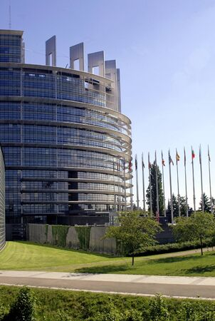 strasbourg: View of the european parliament in Strasbourg, France Stock Photo