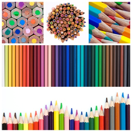 Color pencils collage photo