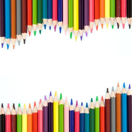 Background with color pencils Stock Photo - 11855137