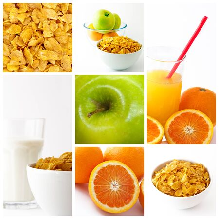 healthy breakfast collage