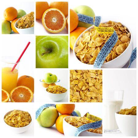health collage: Diet breakfast