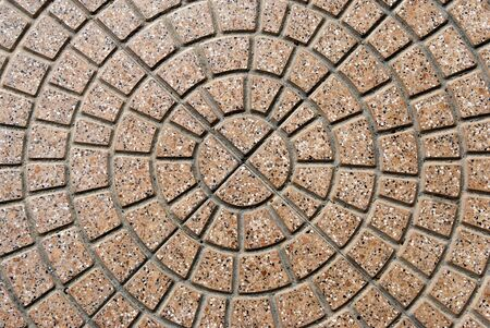 paving stone: cobblestone pavement with circular pattern