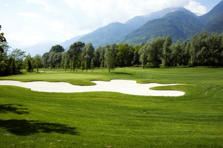 Golf field - landscape view photo