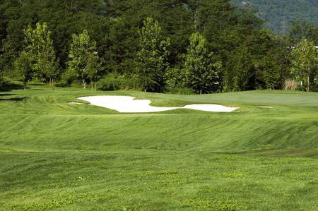 Golfpálya nézet Stock fotó