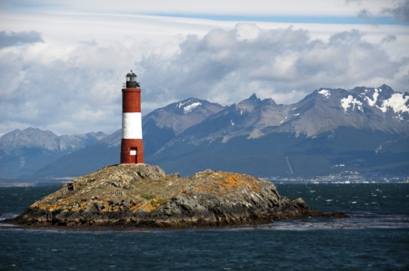 tierra: lighthouse - in the Beagle Channel Patagonia Argentina