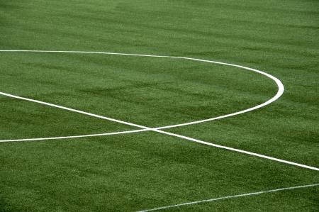 A detail of a soccer field grass photo